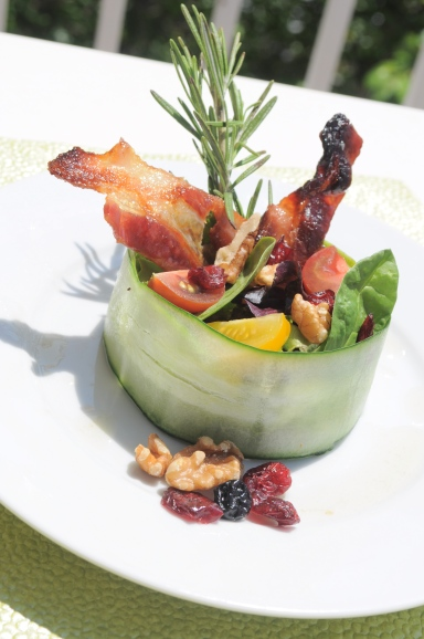 Cucumber Wrapped Salad