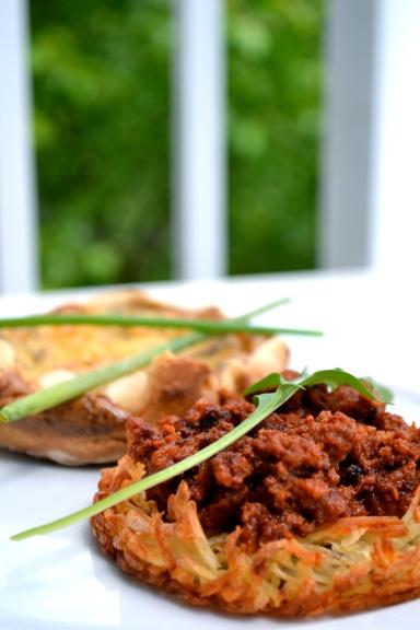 Herb Quiche & Chorizo Hash
