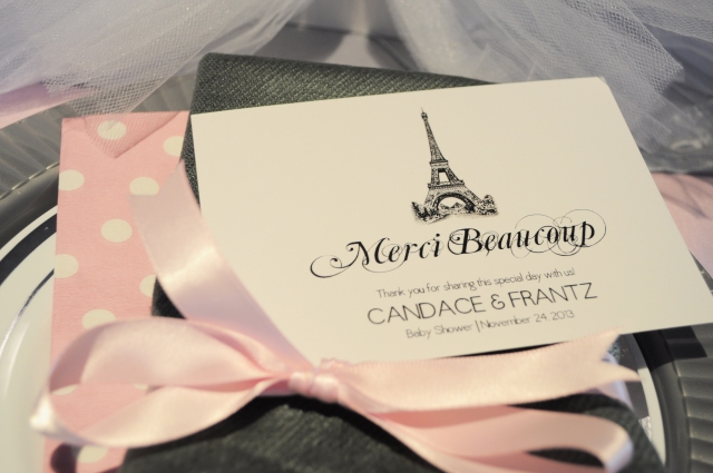 Ballerina in Paris - Merci Beaucoup Thank You Card
