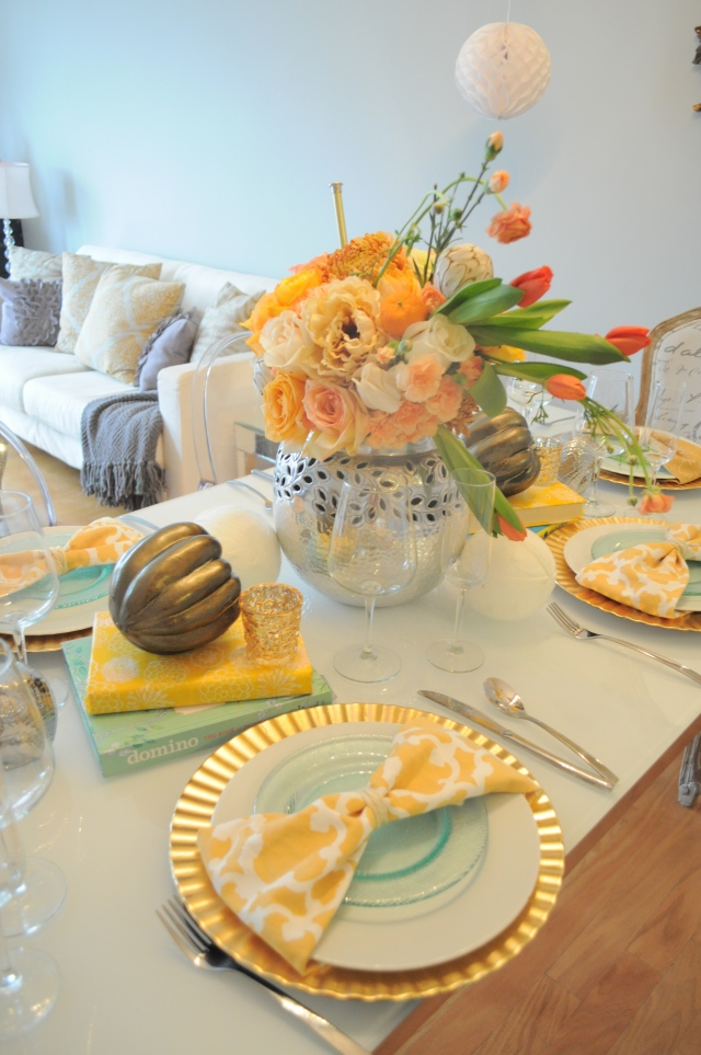 A Few of my Favorite  Things Birthday Brunch Tablescape