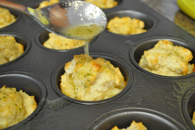 Red Lobster Style Cheddar Bay Biscuits Butter