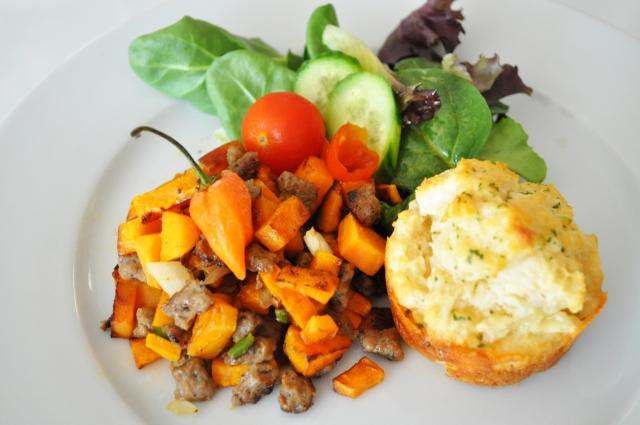 Sweet Potato and Turkey Sausage Hash