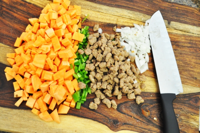 Sweet Potato Jalapeno Onions Turkey