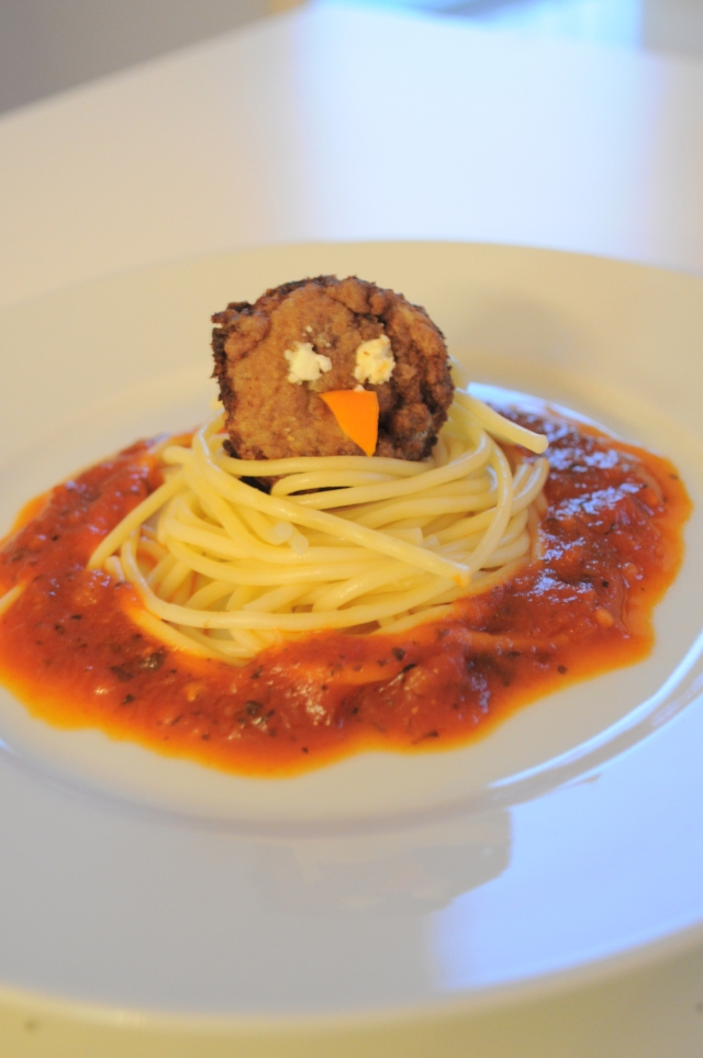 Birds nest Pasta - kids creative food 2
