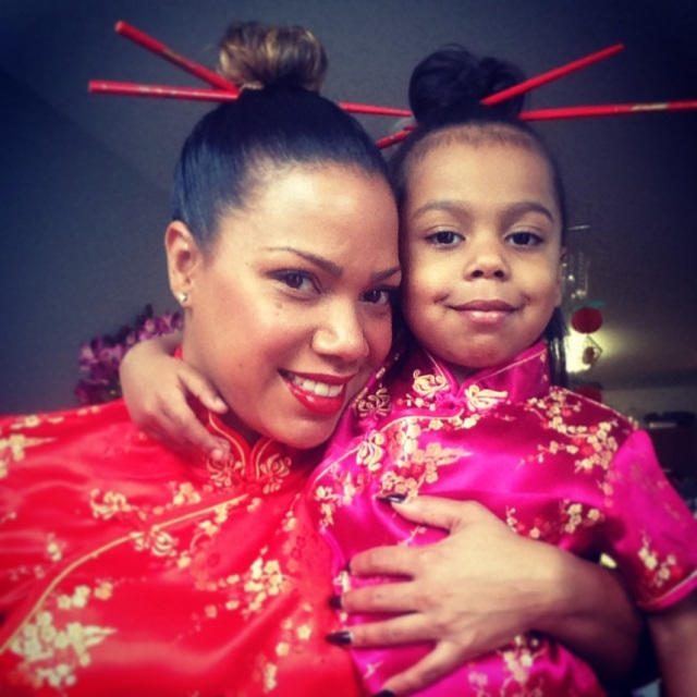 Chinese New Year - Mommy and Baby Bear