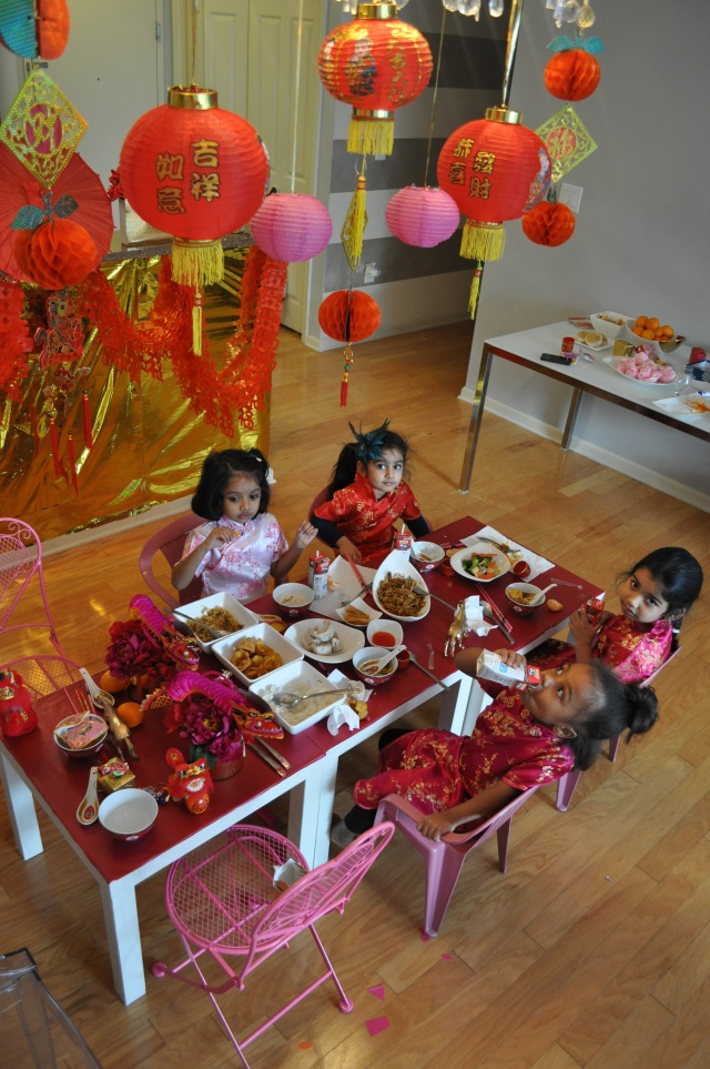 Chinese New Year - Feast table