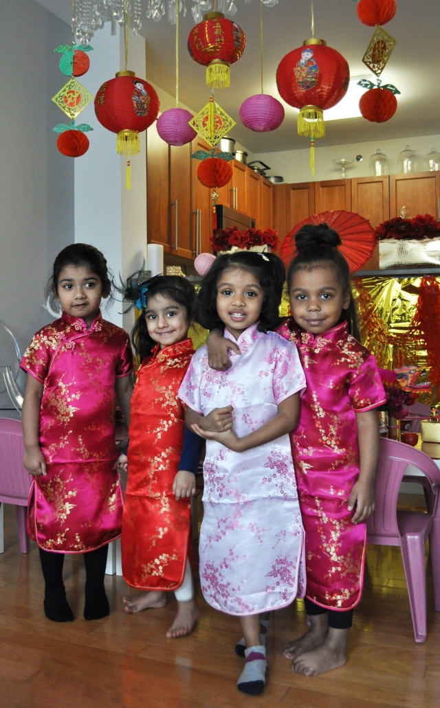 Chinese New Year - The Girls in Mandarin Dresses
