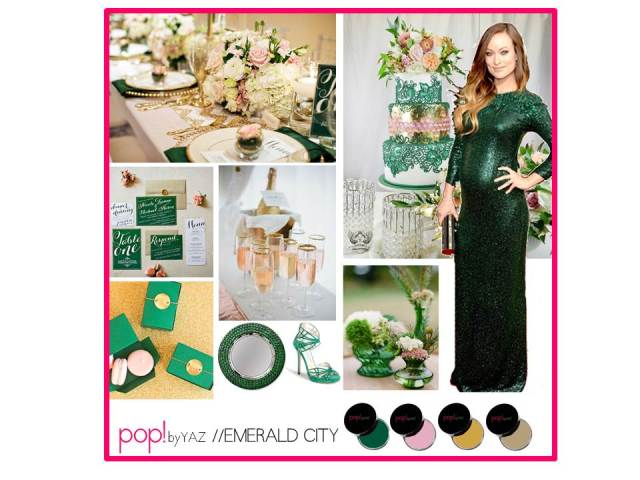 pop by Yaz Olivia Wilde Emerald Golden Globe Inspiration