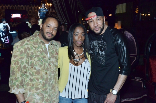 Grand Hustle CEO and AKOO's co-founder, Jason Geter, Kirsten Daniels of Grand Hustle, and AKOO's VP of Marketing, Sabai Burnett.